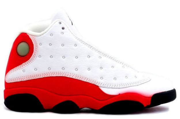 classic air jordan 13 original white black true red pearl shoes