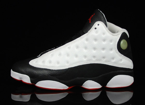 classic air jordan 13 original white true red black shoes