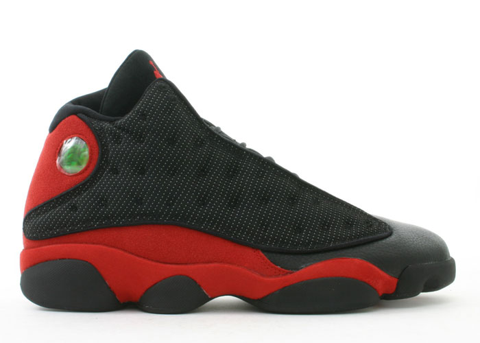 authentic air jordan 13 retro blacktrue red shoes