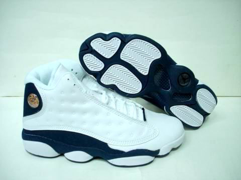 authentic air jordan 13 retro white blue shoes