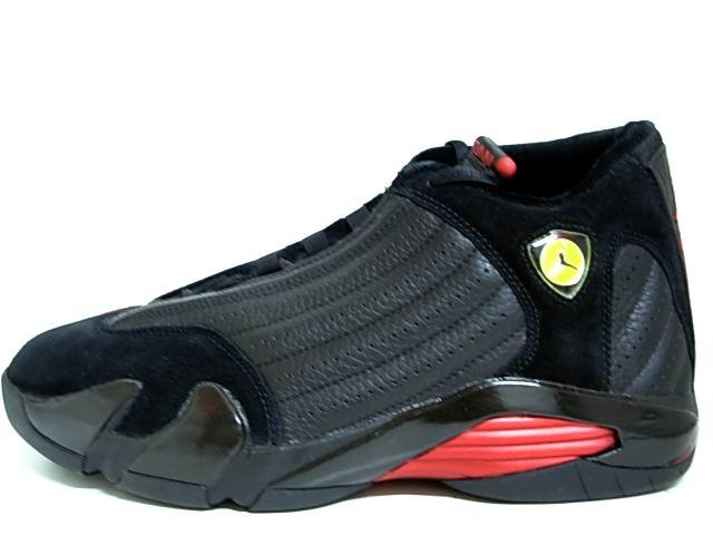 Classic Air Jordan 14 Final Last Shot Black Varsity Red Shoes