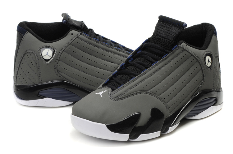 air jordan 14 retro grey white shoes