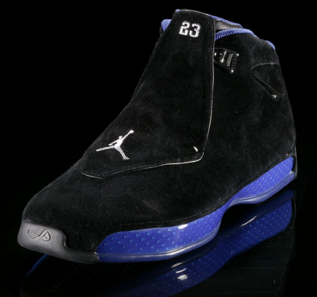 classic air jordan 18 black royal blue shoes