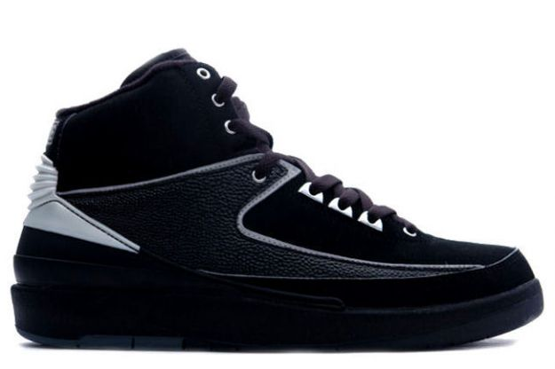 Original Classic Air Jordan 2 Retro Black Chrome Shoes