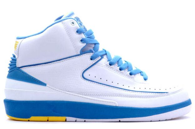 Original Classic Air Jordan 2 Retro Carmello Anthony Melo White University Blue Varisty Maize Shoes