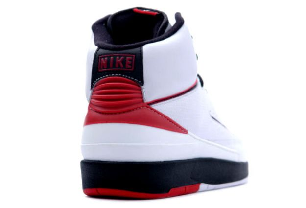 Original Classic Air Jordan 2 Retro White Varsity Red Black Shoes