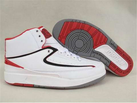 Original Classic Air Jordan 2 Retro White Varsity Red Shoes