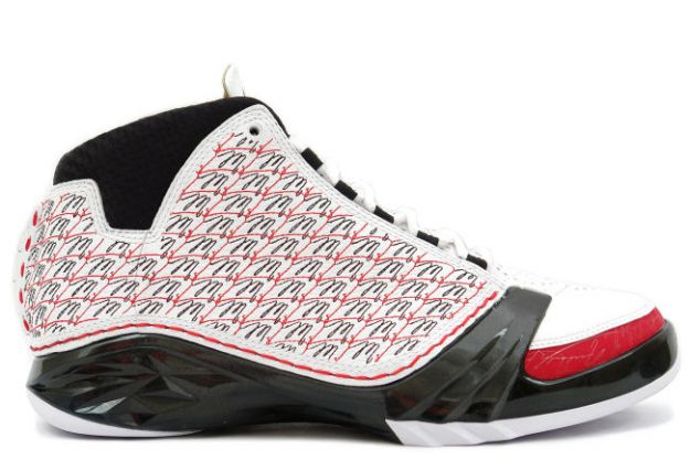 air jordan 23 all stars white black varsity red shoes