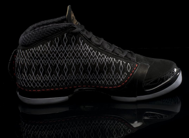 air jordan 23 stealth black metallic silver varsity red shoes