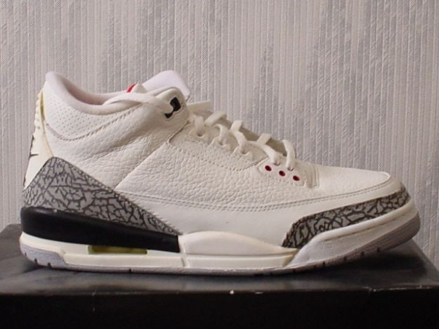 Classic Air Jordan 3 Retro 1994 White Cement Grey Shoes