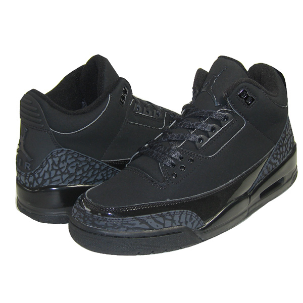 Claasic Air Jordan 3 Retro All Black Cat Charcoal Shoes