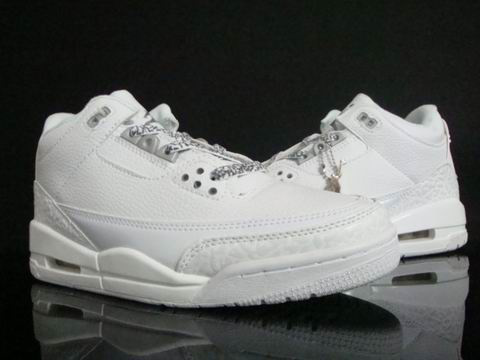 Air Jordan 3 Retro All White Shoes