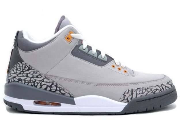 Classic Air Jordan 3 Retro Silver Sport Red Light Graphite Orange Peel Shoes
