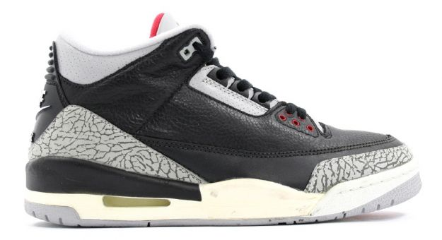 Classic Air Jordan 3 Retro Black Cement Grey Countdown Pack Shoes