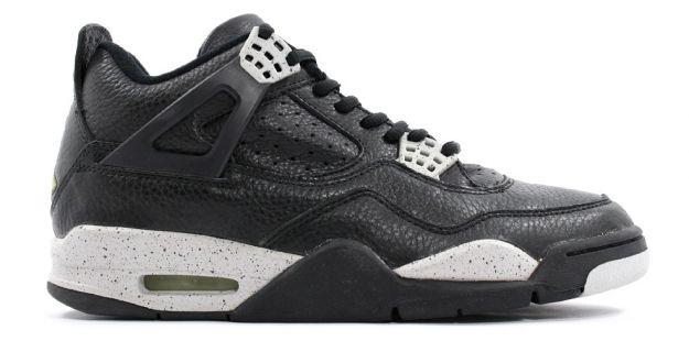 classic air jordan 4 retro 1999 black black cool grey shoes