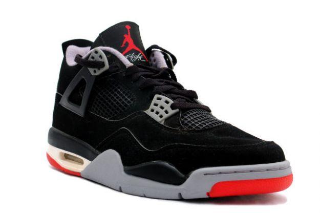 huge discount c57ca 21371 classic air jordan 4 retro 1999 black cement grey shoes