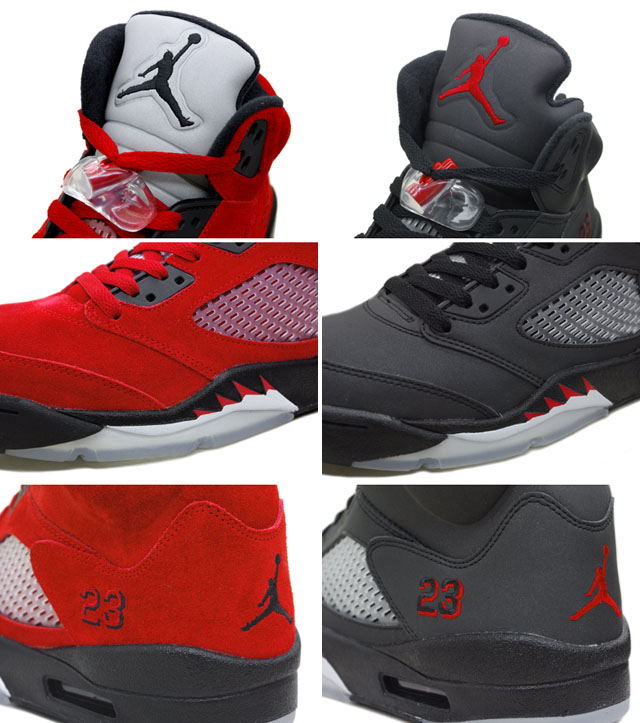 Popular Air Jordan 5 Raging Bull Pack Varsity Red Black Package On Sale - Click Image to Close
