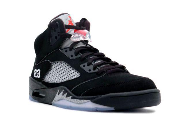black jordan 5s