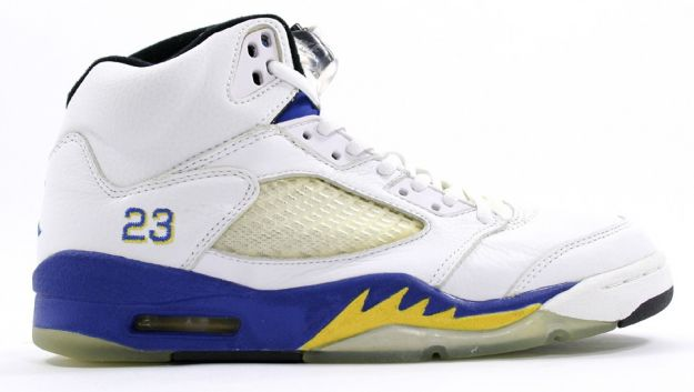 classic original air jordan 5 retro laney white varsity royal varsity maize shoes