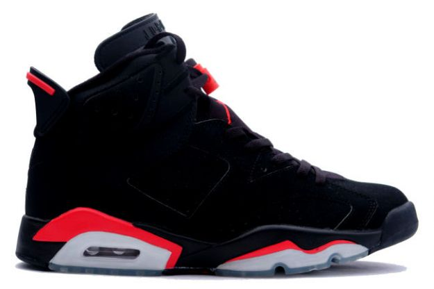 classic air jordan 6 retro black deep infrared shoes
