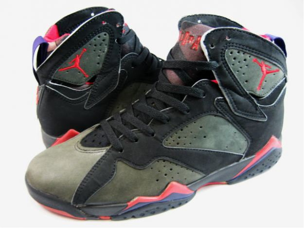 classic and popular air jordan 7 original black dark charcoal true red shoes