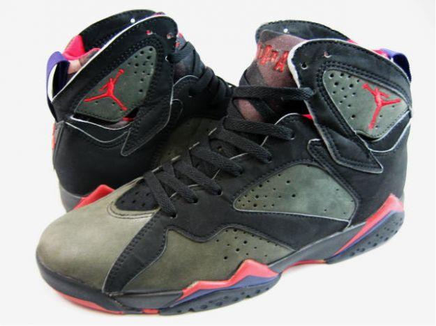 classic and popular air jordan 7 original black dark charcoal true red shoes