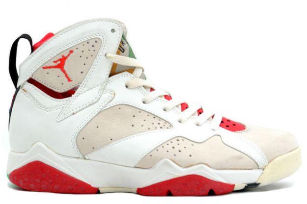 classic and popular air jordan 7 original hare air jordan white light silver true red shoes