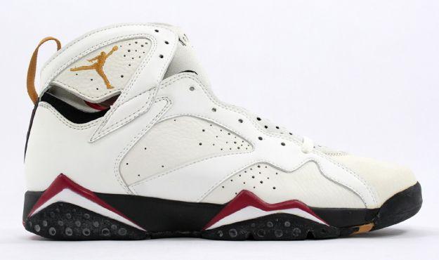 classic and popular air jordan 7 original white black cardinal red shoes