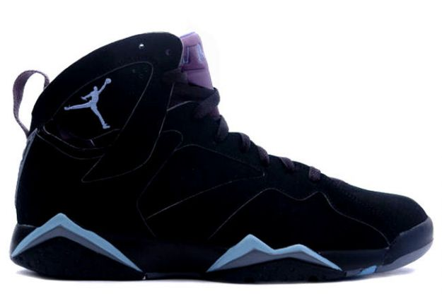 classic and popular air jordan 7 retro black chambray light graphite shoes