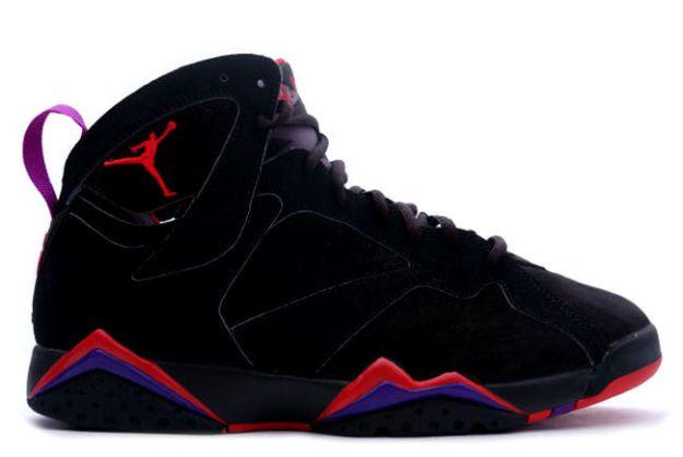 classic and popular air jordan 7 retro black dark charcoal true red shoes