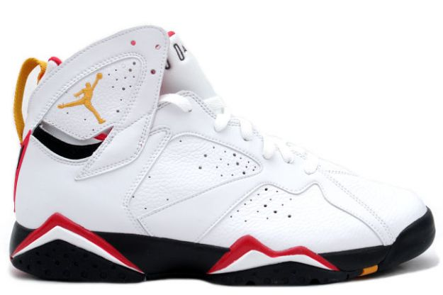 classic and popular air jordan 7 retro cardinals white black cardinal red bronze shoes