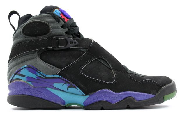 classic air jordan 8 original aquas black bright concord aqua tone shoes