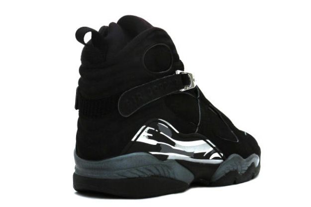 popular air jordan 8 retro black chrome shoes