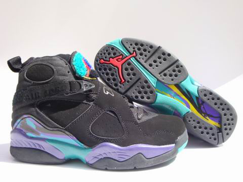 popular air jordan 8 retro black green shoes
