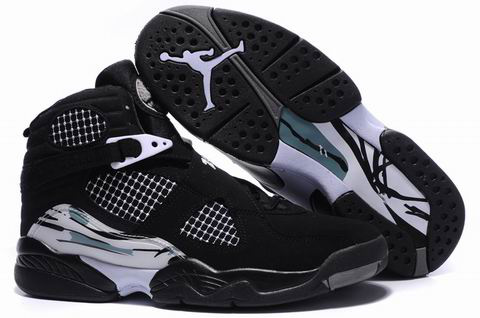 popular air jordan 8 retro black grey shoes
