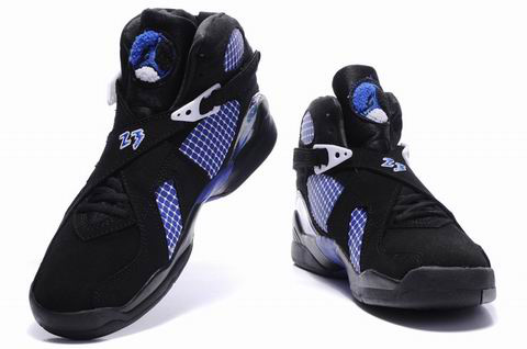 popular air jordan 8 retro black true blue shoes