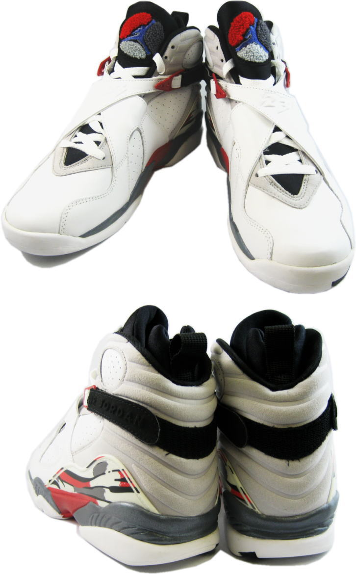 popular air jordan 8 retro white black true red shoes