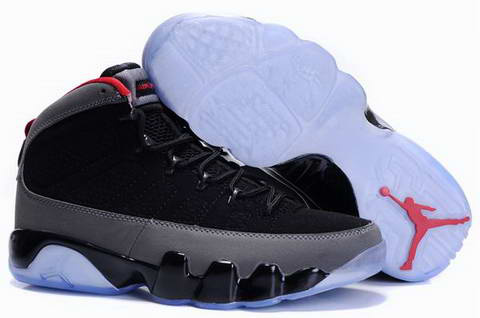 classic air jordan 9 retro black grey shoes