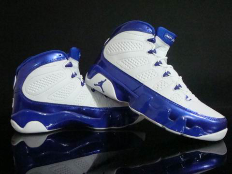 classic air jordan 9 retro white blue shoes