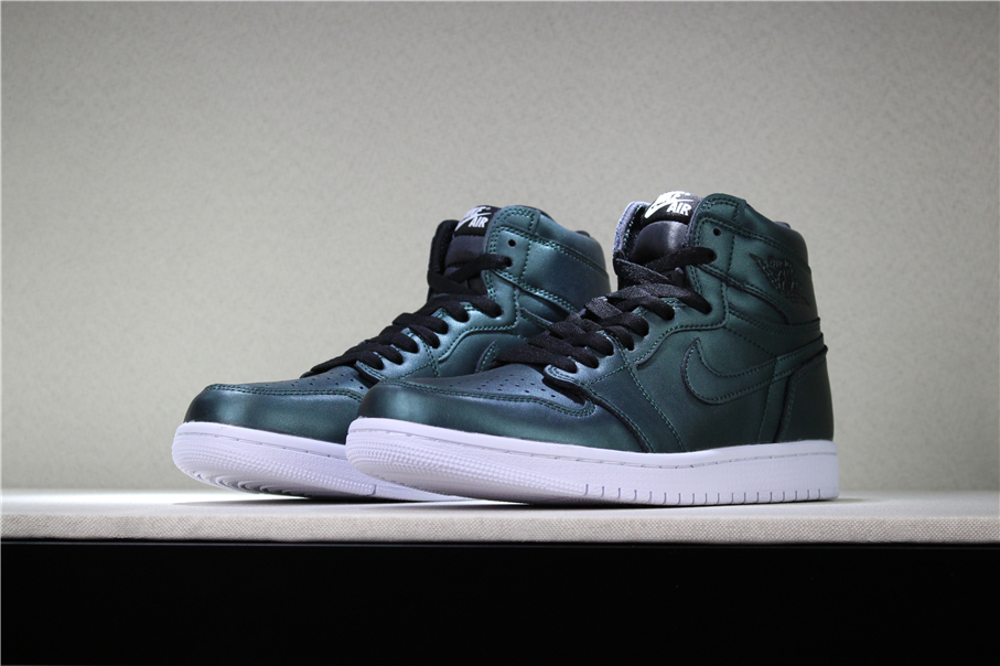 new jordans 2018 air jordan 1 high chameleon dark green black white