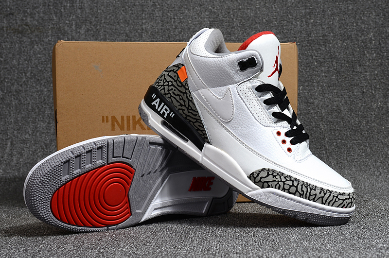 off white x air jordan 3 white cement